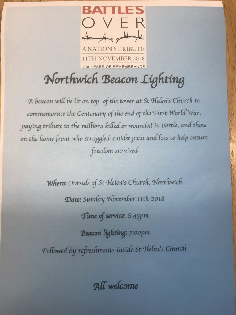 Northwich Beacon Lighting Town Council